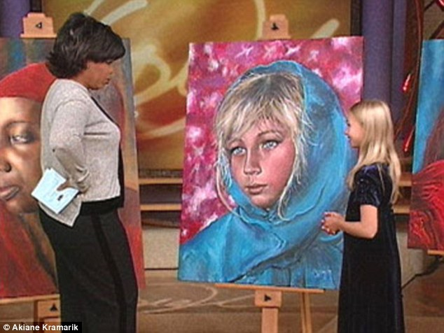 Art prodigy discovered by Oprah at just eight now sells her paintings for millions of dollars… and she's still only 20