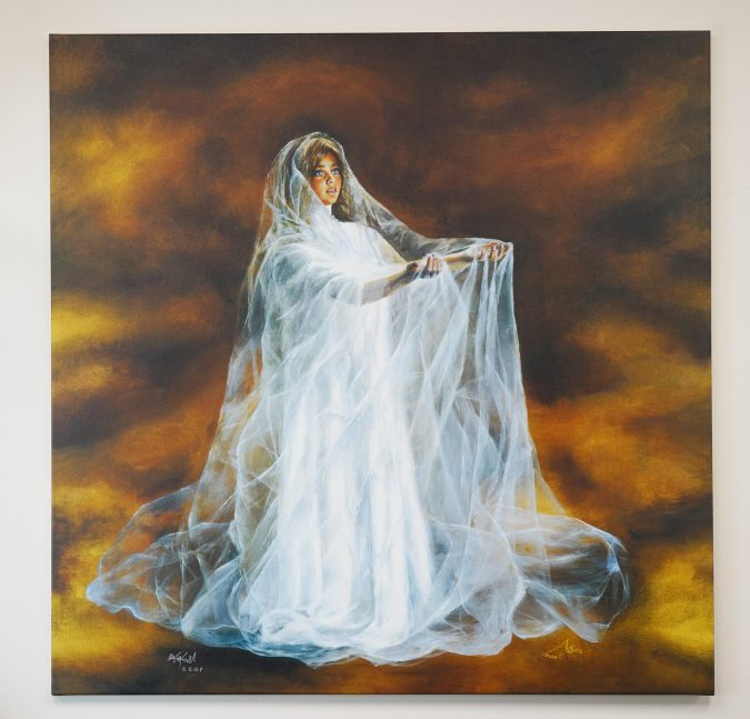 – The Angel – signed stretched print
