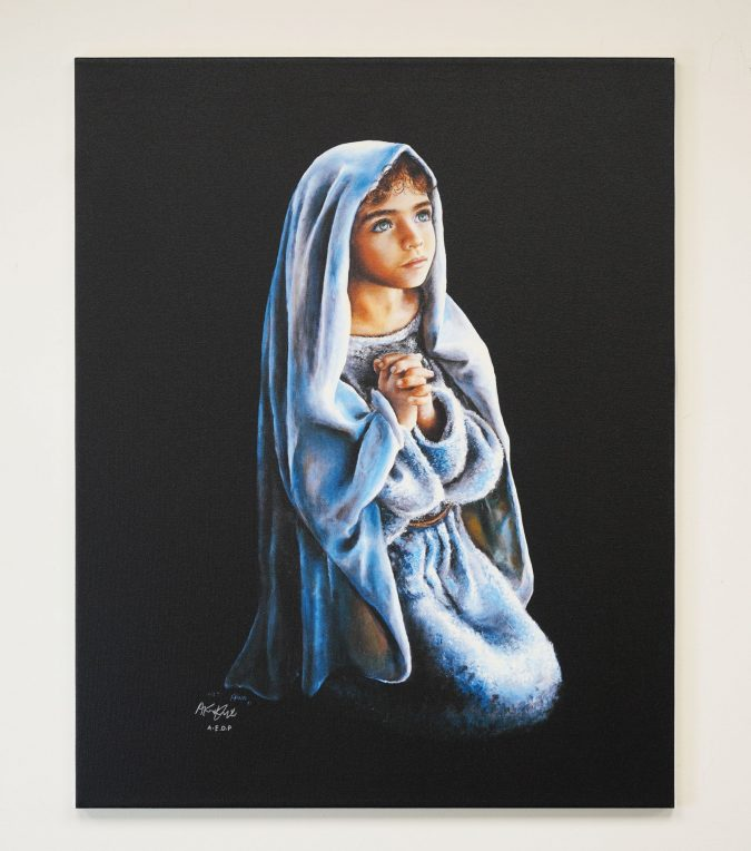 – On My Knees – Signed Stretched Print