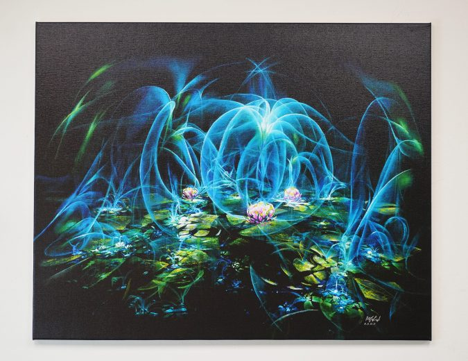– Water Lily – Signed Stretched Print